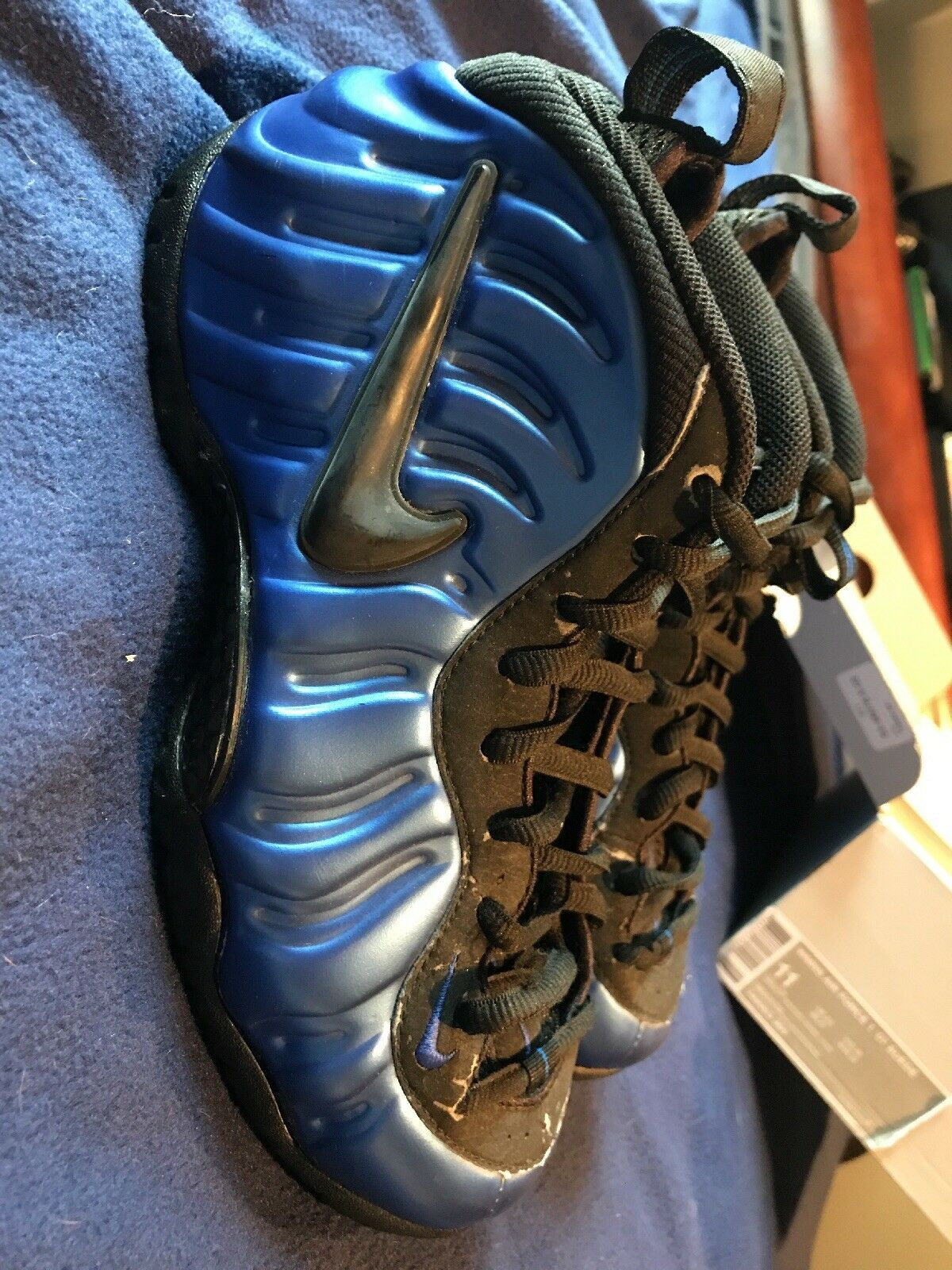air foamposite pro b uni royal black 2001 nike 8 jordan penny galaxie größe 8 nike 794b91