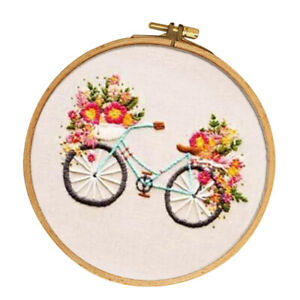 Cartoon-Bicycle-Pattern-DIY-Cross-Stitch-Stamped-Embroidery-Kit-for-Beginner