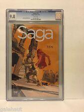 SAGA # 10 CGC 9.8. HOT TITLE! FIRST PRINTING!