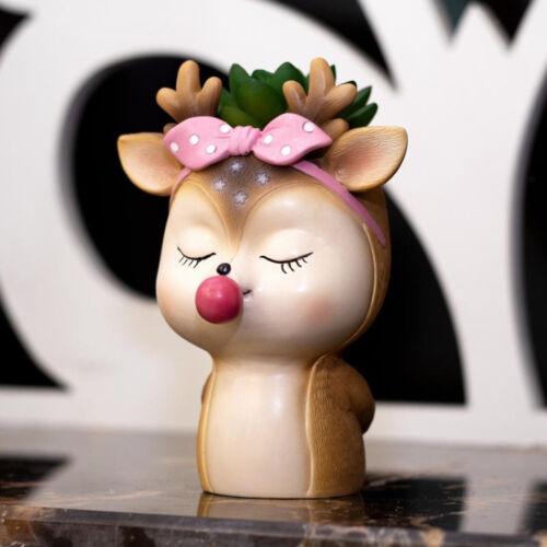 Cute Deer Flower Pot Succulent Planter Pots Vase Living Room Garden Decor