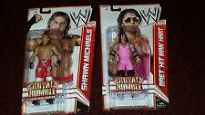 MATTEL ELITE WWE SHAWN MICHAELS HBK BRET HIT MAN HART ROYAL RUMBLE HERITAGE RARE