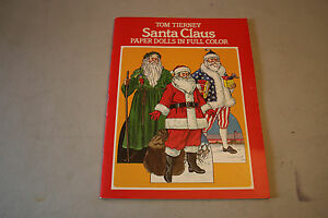 Vintage 1983 Tom Tierney Santa Claus Paper Dolls in Full Color Uncut