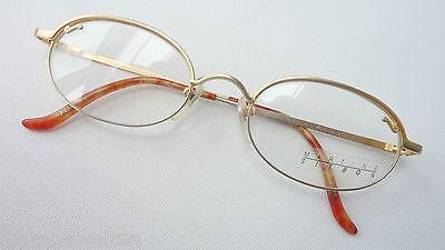 Forte Occhiali Discreta Fuori Uso Gli Occhiali Telaio In Metallo Versione Oro Circa Ovale Accresciute M-mostra Il Titolo Originale