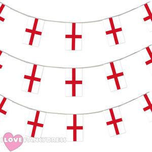 ENGLAND-BUNTING-33FT-ST-GEORGE-FLAG-DECORATION-20-FLAGS-10-METRES-EURO-2016