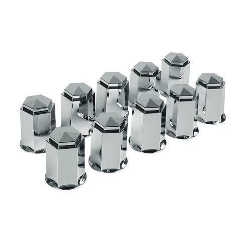 Set 10 copribulloni in abs 32 mm cromo camion estetica ruote lampa 03u