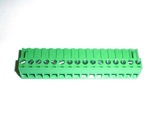 20020006-H161B01LF Amphenol Terminal Block 16 Pos 5.08mm 300V 12A 12-14G 1 piece