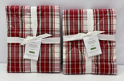 New Pottery Barn Hannon Plaid Reversible Letters To Santa