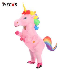 Women-Men-Inflatable-Unicorn-Costume-Blow-Up-Party-Halloween-Cosplay-Fancy-Dress