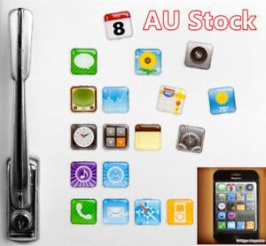 18-Pcs-Fridge-Magnet-iPhone-App-Logo-Refrigerator-Magnets-Whiteboard-Memo-Icons