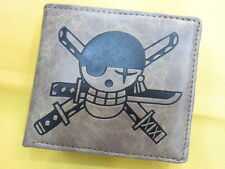 New One Piece Roronoa Zoro wordsman Luffy PU Leather Logo wallet Purse (1075196)