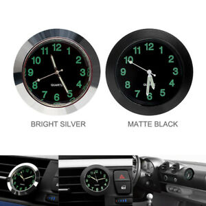 Lumineux-Voiture-Tableau-De-Bord-Air-Vent-Stick-on-Time-Horloge-Quartz-Montre-analogique