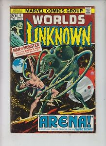 WORLDS-UNKNOWN-4-Marvel-Sci-Fi-1973-034-Arena-034-Gerry-Conway-and-John-Buscema