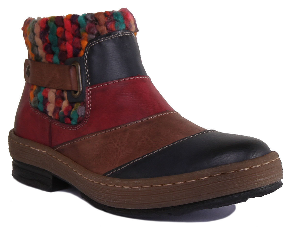 Rieker Z6782 14 Damens Sock Boot Multicolour Sock Warm Boot Größe UK 3 - 8