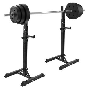 Weight Lifting Training Bench Press Fully Adjustable Squat Rack Stands Crossfit Ebay