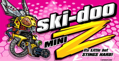 SKI-DOO PINK custom banner Mini Z Rev XP Summit Mechanical Bee 120 MXZ