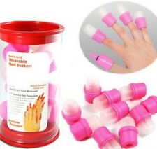 10x Wearable Nail Art Wiederverwendbare Soaker Acryl Tips Polish Remover