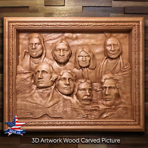 WOOD-PICTURE-BY-YOUR-PHOTO-CARVED-ARTWORK-3D-ICON-PAINTING-PANEL-SCULPTURE-DECOR