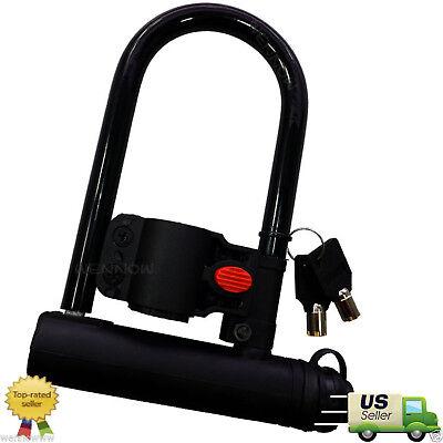 3/'/'x6/'/' Steel U-Shape Bicycle Lock-Heavy Duty Security Lock-2keys-USA SELLER