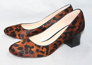 c1592a41409 COLE HAAN Chelsea Animal Print Hair Calf Pump Wo s 8B Medium Heel ...