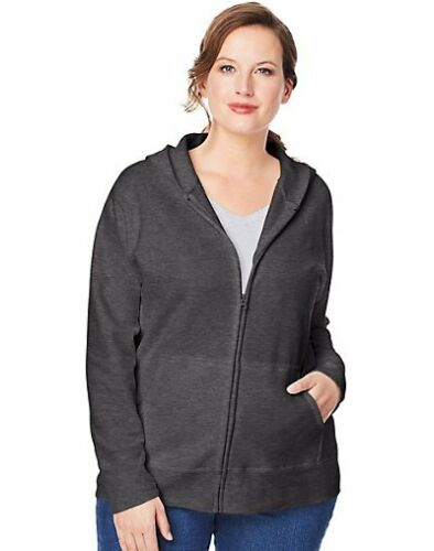 Just My Size Hoodie Women/'s Plus Size ComfortSoft Fleece Full Zip EcoSmart 1x-5x