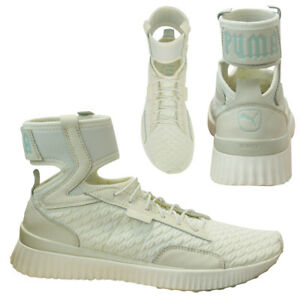 huge selection of 1999b 273be Details about Puma x Fenty Trainer Mid Geo Rihanna Womens Trainers Vanilla  Ice 191231 01 D43