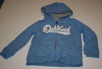 NEW OshKosh Boys Heritage Logo Hoodie Blue NWT 10 Kid Sweatshirt Zip Up Jacket