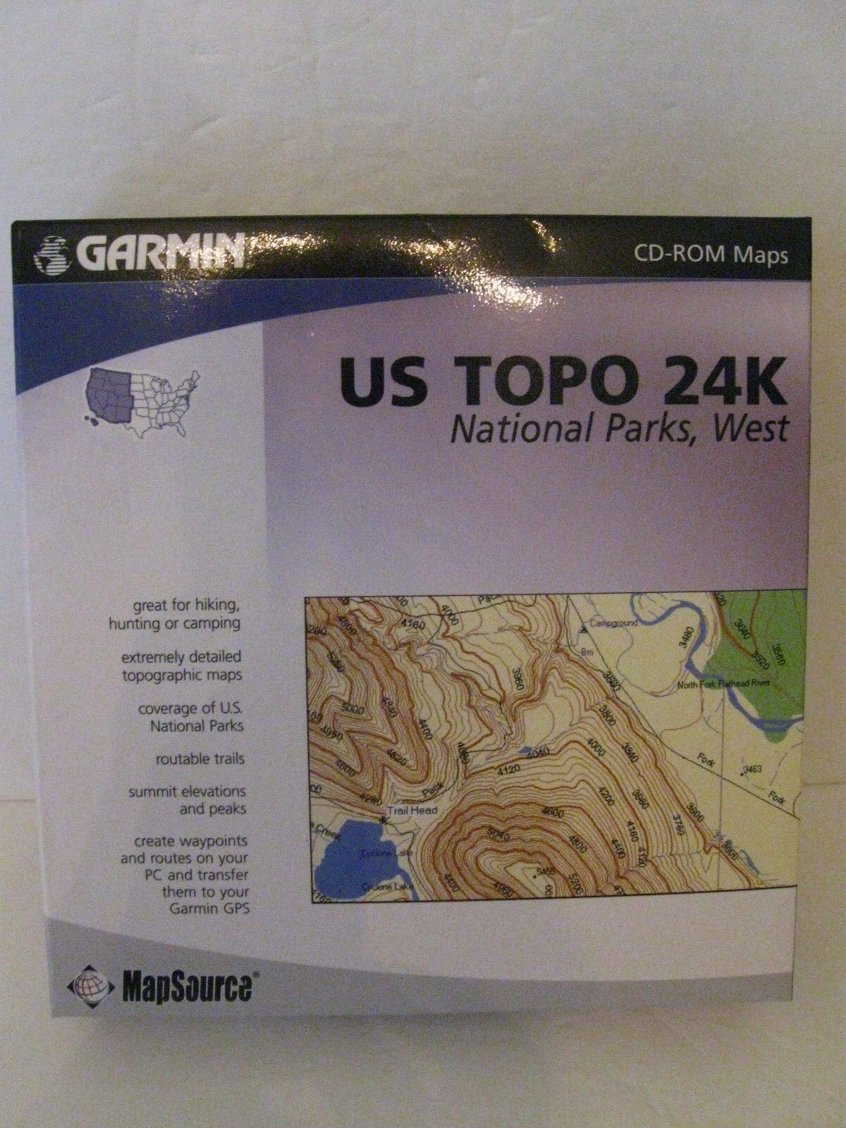Garmin US Topo 24k National Parks West CDROM
