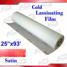 1 Roll 069x31yard Sain Matt Paper Adhesive Glue Vinyl Cold Laminating Film