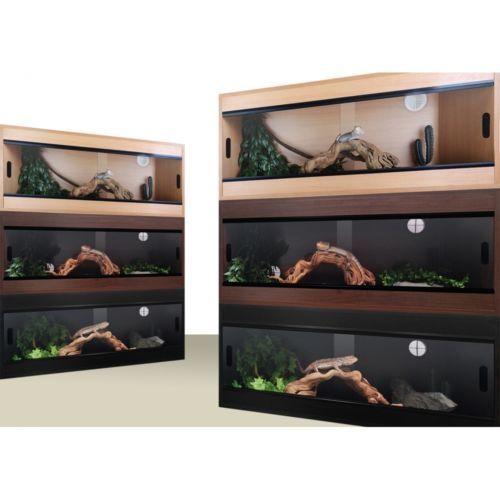 Terapod 48 4ft Oak Oak Oak Pro Vivarium Rettile Alloggiamento 7c3eeb