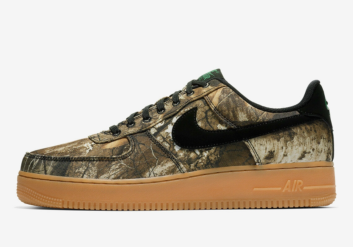 NIKE AIR FORCE 1 LOW REAL TREE CAMO BLACK ALOE green GREEN GUM SZ 9-13