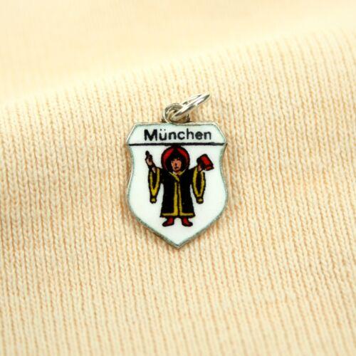 ANTIKO Bettel Armband Wappen Anhänger Charm Pendant Emaille Silber 800 München