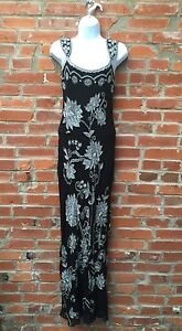 e7be5b1f6cdf2 Image is loading Vintage-Adrianna-Papell-Beaded-Silk-Evening-Gown-Womens-