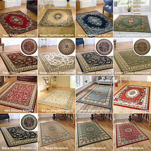 SMALL-EXTRA-LARGE-ELEGANT-CLASSIC-TRADITIONAL-RUGS-BLUE-DARK-RED-GREEN-BEIGE