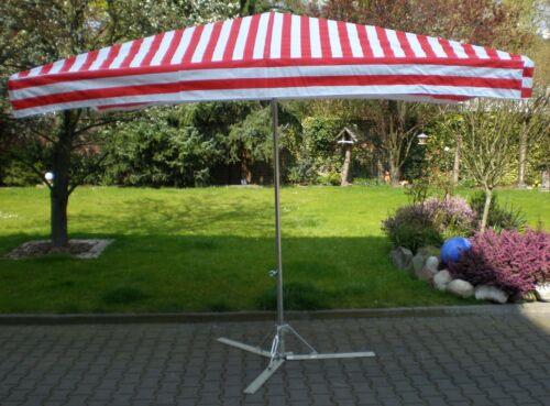 NEU 2 x 3 m Profimarktschirm Marktschirm Marktstand Umbrella inkl 20kg Fuß !!!