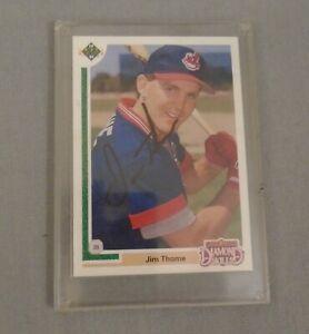 Jim Thome Autographed Signed 1991 Upper Deck Rookie Baseball Card NO COA