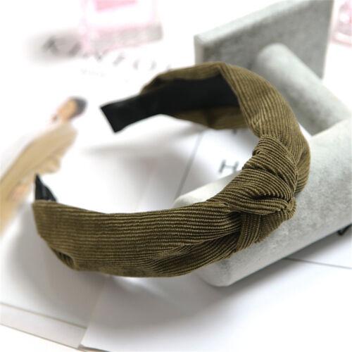 Damen Geblümt Schleife Knoten Haarband Kopfband Stirnband Haarreif Haarreifen ZM