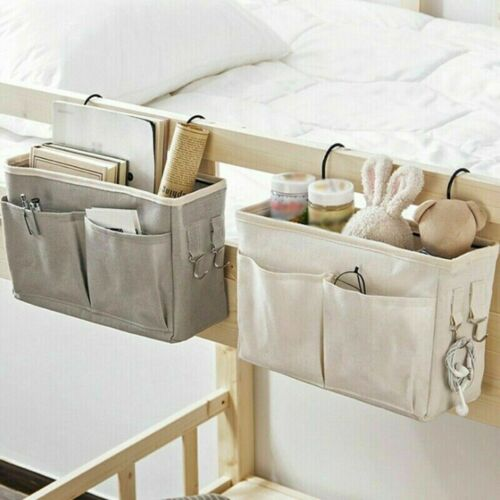 Bed Holder Organizer Container Bedside Chair Hanging Storage Bag Cloth Pocket