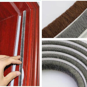 10m schiebet r fenster dichtungsprofil b rste flor dichtung dichtleiste 4 gr e ebay. Black Bedroom Furniture Sets. Home Design Ideas