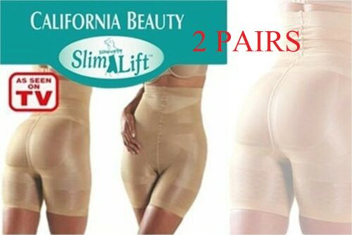 2X ORIGINAL SLIM N LIFT BODY SHAPING UNDERPANTS KNICKERS BLACK and SKIN XL SIZE