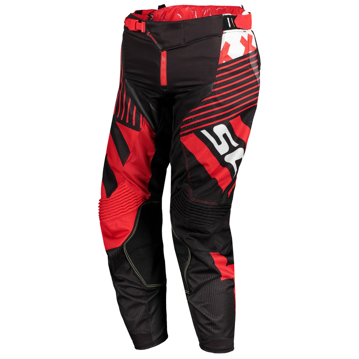 Scott 450 Patchwork MX Motocross   DH Fahrrad Hose black red 2018