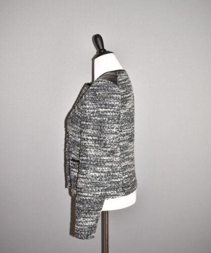10 taille bordure Ann gris Veste en New avec similicuir tweed en Taylor 179 qq4Pxw78