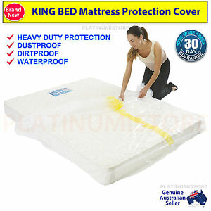 Image Is Loading 2 X King Size Mattress Protector Dust Cover