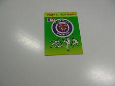 1990 Fleer Baseball Logo Stickers Detroit Tigers Baseball Quiz on back