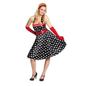 Details zu Damen Kostüm 50er Jahre Kleid Elvis 60er Jahre Neckholder Kleid
