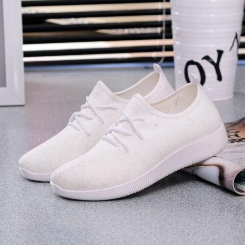 Hot femmes s Outdoor Chaussures De Sport Respirant Casual Sneakers Running Shoes Flats