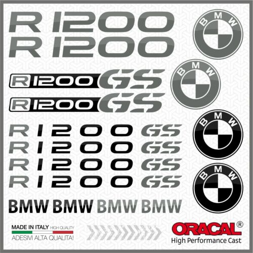 16x R1200GS Black//Grey BMW MOTTORAD ADESIVI R1200 GS PEGATINA STICKERS R 1200