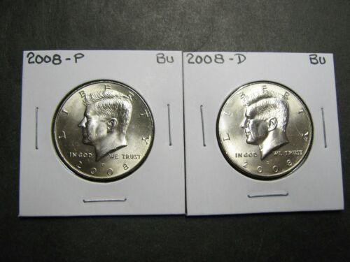 8 Coins 2008 2009 2010 2011  P  D  KENNEDY HALF DOLLARS FROM MINT ROLLS