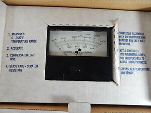 Cress-KILN-PYROMETER-Thermocouples-Meter-Type-K-w-Box-Full-Instructions