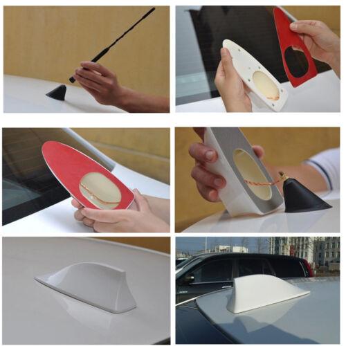 Gray Color Shark Fin Style Car Auto SUV Roof Radio AM//FM Signal Aerial Antenna