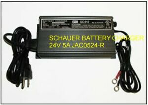 BATTERY-CHARGER-LEAD-ACID-SCHAUER-24V-5A-MULTI-STAGE-RING-TERMINALS